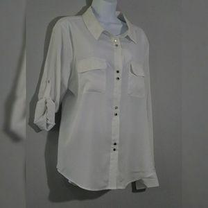 EUC Ivanka Trump white blouse sz XL